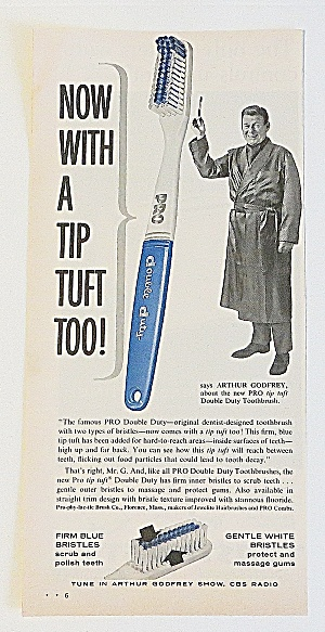 1963 Pro Tip Tuft Toothbrush With Arthur Godfrey