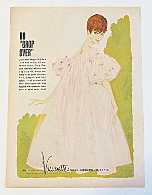 1963 Vassarette Dress With Woman In Pink Dress