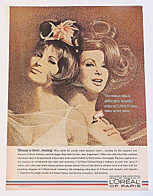 1966 Loreal Of Paris With Pair Of Beautiful Women