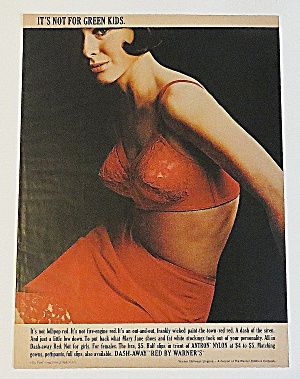 1966 Warner's Dash Away Red With Lovely Woman