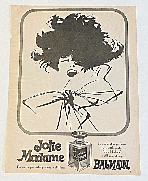 1966 Jolie Madame Balman With Woman's Portrait