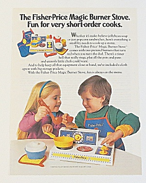 1992 Fisher Price Magic Burner Stove W Children Playing