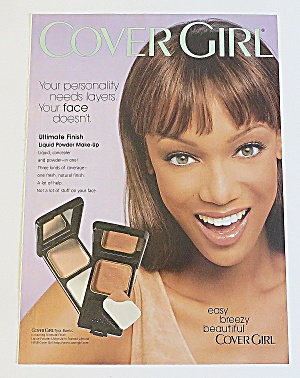 1998 Cover Girl Liquid Powder Makeup With Tyra Banks