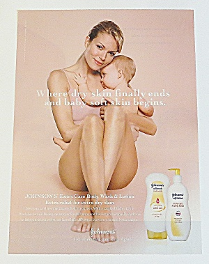 2005 Johnson's Baby Wash & Lotion With Woman & Child