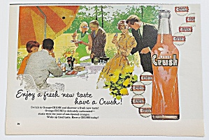 1960 Orange Crush With Man & Woman Talking