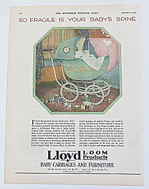 1929 Lloyd Baby Carriages With Green Carriage