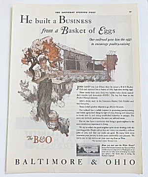 1930 Baltimore & Ohio With Boy & Chickens