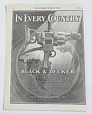 1930 Black & Decker With Electric Drill