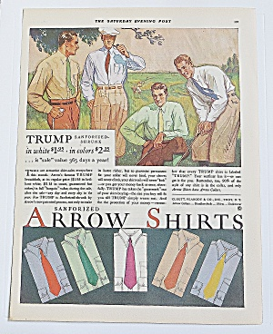 1930 Arrow Shirts With Men Golfing