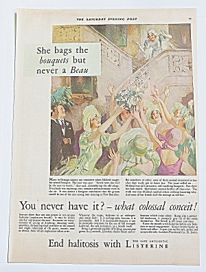 1930 Listerine With Girl Catching Bouquet