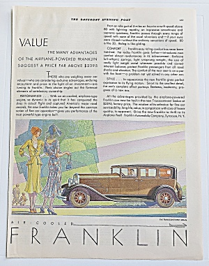 1930 Franklin With Trans Continent Sedan