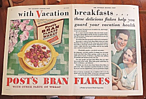 1930 Post Bran Flakes With Couple Smiling (Image1)