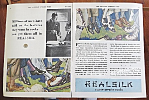 1930 Real Silk Socks With Men's Feet