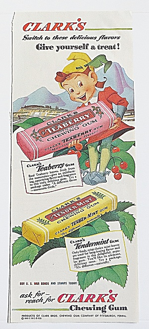 1943 Clark's Chewing Gum With Elf (Image1)
