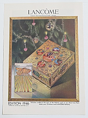 1946 Lancome With Perfume By Christmas Tree