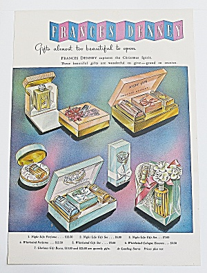 1946 Frances Denney With Different Perfumes