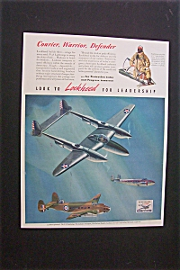 1941 Dual Ad: Lockheed & Borden's Evaporated Milk