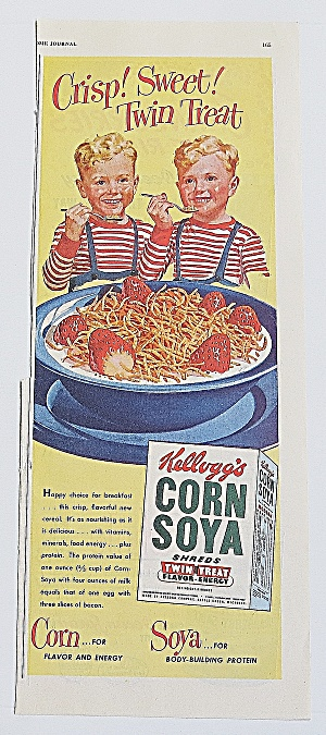 1948 Corn Soya With Twin Kids