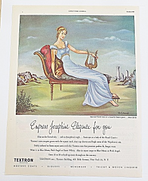 1948 Textron With Woman & Harp
