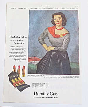 1948 Dorothy Gray Lipstick With Lipstick Trio