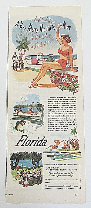 1950 Florida With Woman Waving To People