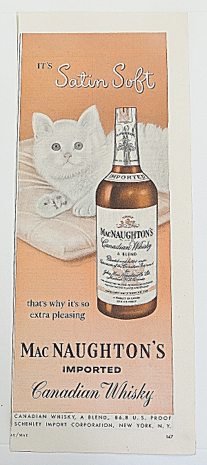 1950 Mac Naughton's Whisky With White Kitty