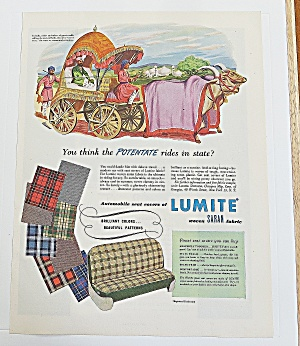 1950 Lumite Fabric With Ancient Ratha