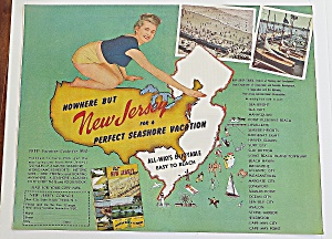 1950 New Jersey With Seashore Vacation