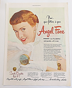 1950 Pond's Angel Face With Lovely Woman