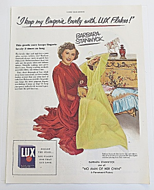 1950 Lux Flakes With Barbara Stanwyck