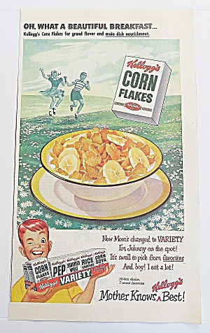 1950 Corn Flakes With Boy Winking (Image1)