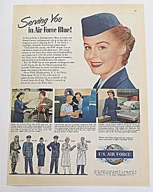 1951 U.s. Air Force With Woman Soldier