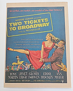 1951 Two Tickets To Broadway With Leigh & Martin