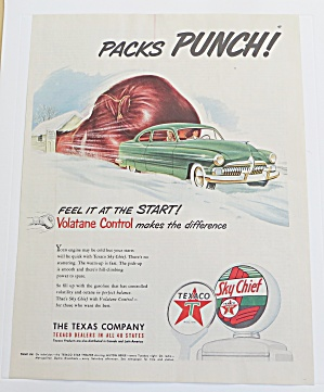 1951 Texaco With Car & Boxing Glove