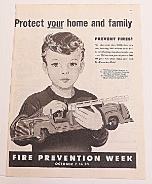 1951 Fire Prevention With The Boy & His Fire Truck