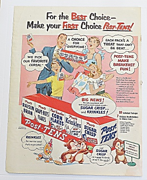 1952 Kellogg's Post Tens With Family