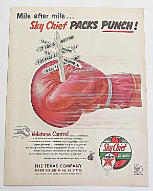 1952 Sky Chief Gasoline With Boxing Glove