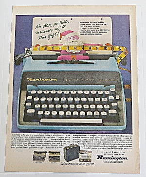 1960 Remington Typewriter With Santa Claus
