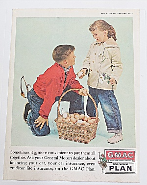 1960 Gmac Time Payment Plan With Kids & Eggs