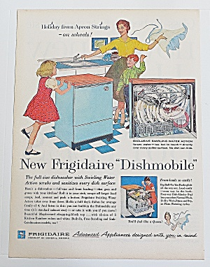 1960 Frigidaire Dishmobile With Mom & Children