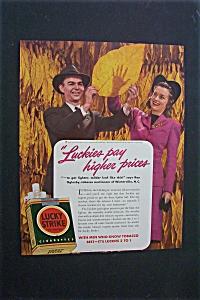 1941 Dual Ad: Lucky Strike Cigarette & Mobilgas (Image1)