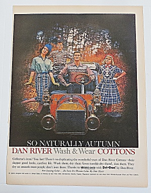 1960 Dan River Wash & Wear Cottons With Happy Family