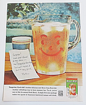 1960 Pitcher Of Kool Aid With Note From Mom
