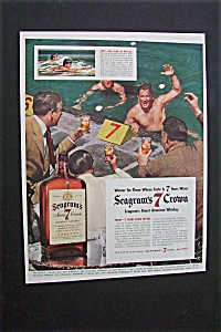 1941 Dual Ad: Seagram's 7 Crown & Mobilgas