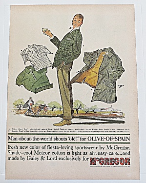 1960 Mcgregor Olive Of Spain With Man In Suit