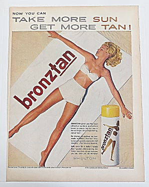 1960 Bronztan With Woman Laying In The Sun