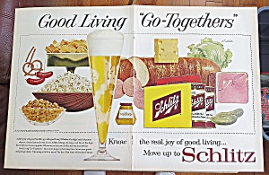 1960 Schlitz Beer With Variety Of Foods