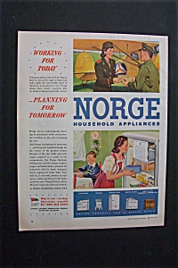 1944 Dual Ad: Norge  Appliances  &  Kem  Tone  Paint (Image1)