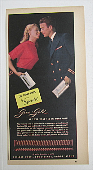 1945 Speidel Forty Niner W/soldier & Woman