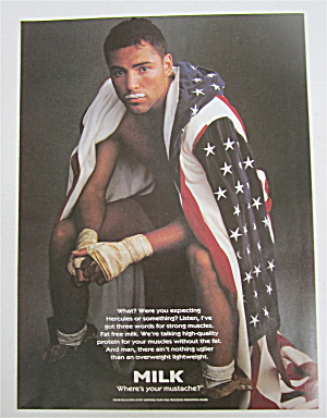 1998 Milk With Boxer Oscar De La Hoya